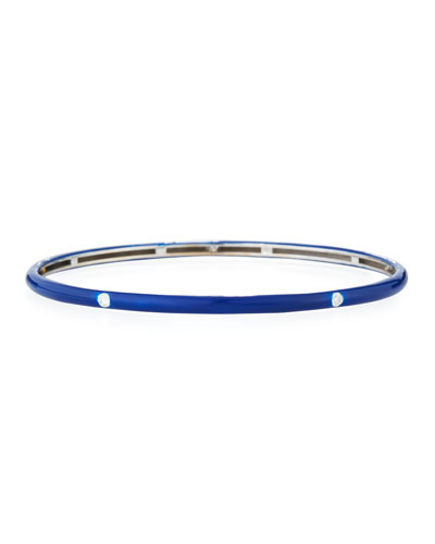 Blue Enamel Bracelet with Diamonds