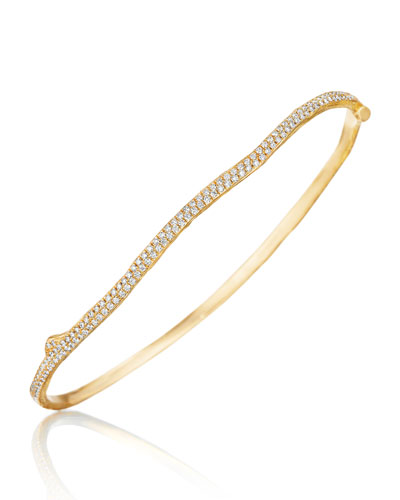 Wonderland 18K Gold Twig Bracelet with Diamonds