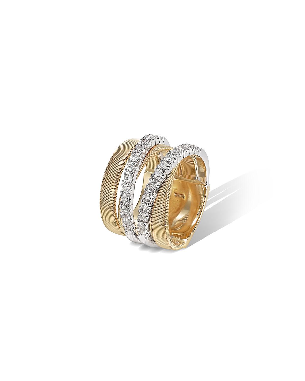 Masai Ring with Diamonds in 18K Yellow Gold