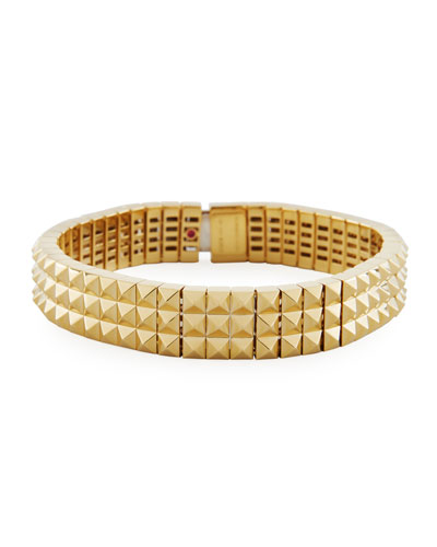 Rock & Diamond 18K Bracelet with Diamond Clasp