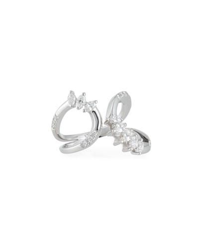 Round & Marquis Diamond Open Ring