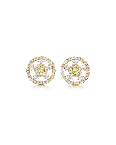 Apollo Green Amethyst & Diamond Earrings