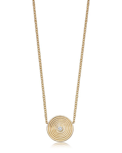 Fantasy 18K Gold Pendant Necklace with White Topaz