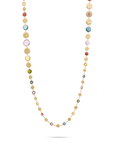 Jaipur Graduated Long Necklace with Mixed Elevated Gemstones, 36