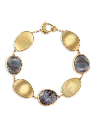 Lunaria Black Mother-of-Pearl Station Bracelet