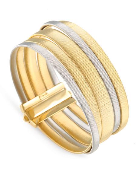 Marco Bicego Masai 18K Yellow & White Gold Five-Strand Bracelet