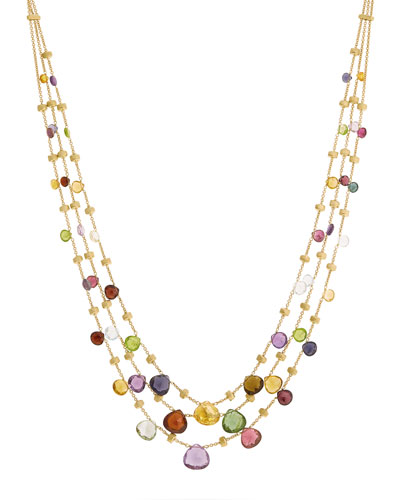 Paradise Graduated Three-Strand Necklace