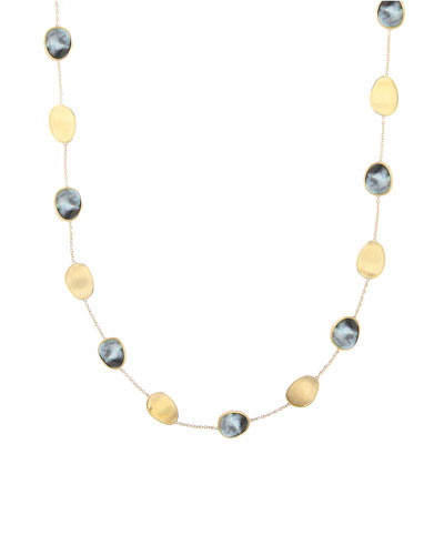 Lunaria 18k Black Mother-of-Pearl Station Necklace