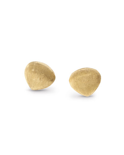Paradise Yellow Gold Teardrop Stud Earrings