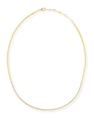 Flawless 14k Yellow Gold & Diamond Necklace