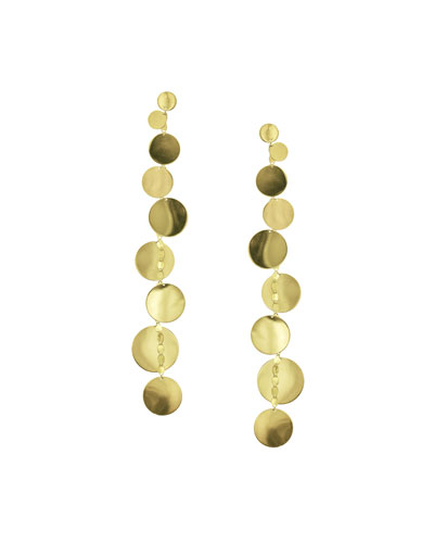 Linear 9-Disc Drop Earrings