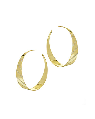 Flawless Diagonal Diamond Hoop Earrings