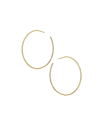 Ron Hami 14k Bubble Large Hoop Earrings with Pearls NgAK7O