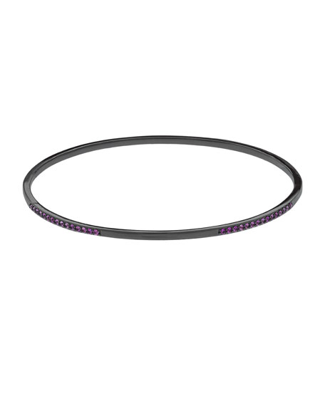 Lana Electric Pink Sapphire Bangle in 14K Black Gold