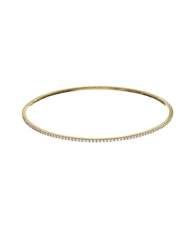 Flawless All-Around Diamond Bangle in 14K Yellow Gold