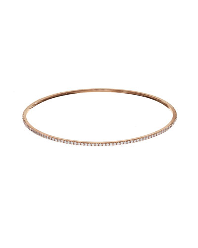 Flawless All-Around Diamond Bangle in 14K Rose Gold
