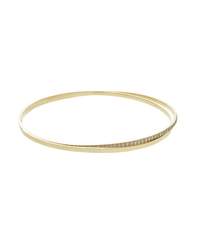Lana Jewelry Flawless All-Around Diamond Bangle in 14K Rose Gold