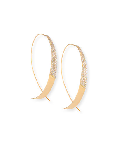 Legacy Upside Down Hoop Earrings with Diamonds