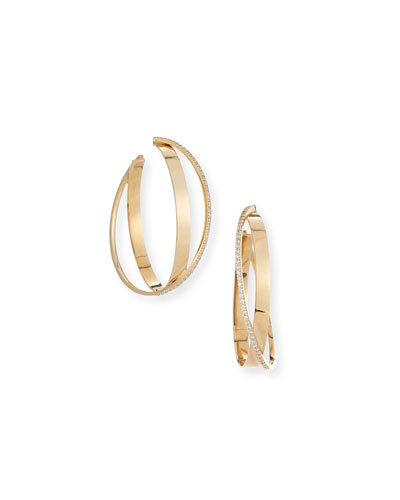 Flawless Bond Diamond Twist Hoop Earrings