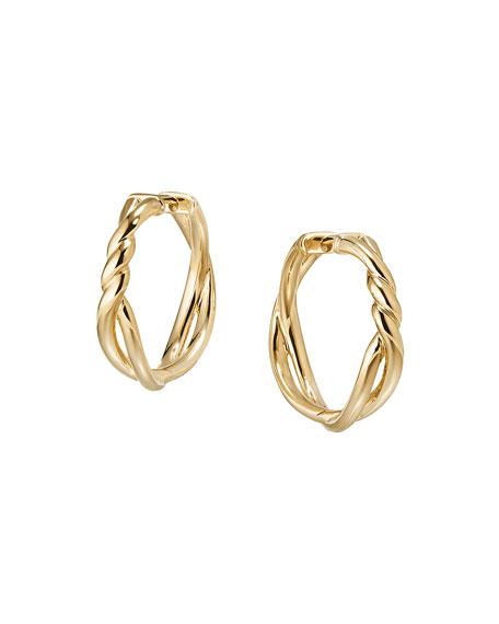 David Yurman 21mm Continuance 18K Gold Hoop Earrings