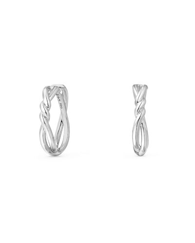 21mm Continuance Hoop Earrings in 18k White Gold