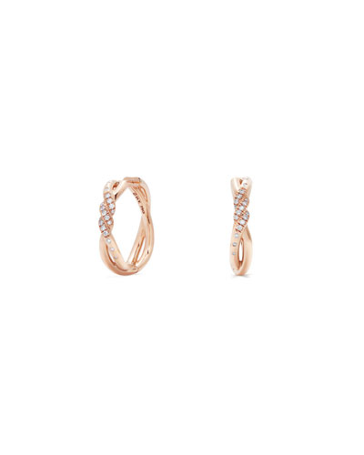 0296dc1a2 Quick Look. David Yurman · 21mm Continuance 18K Rose Gold Hoop Earrings ...