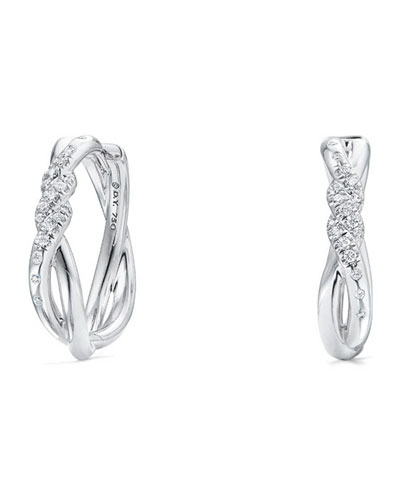 458536c1eb2 Quick Look. David Yurman · 21mm Continuance 18K White Gold Hoop Earrings  with Diamonds