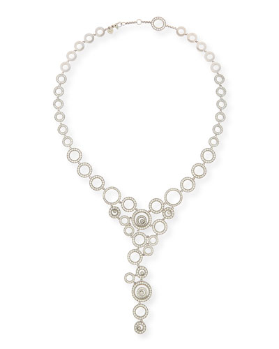 Happy Spirit 18k White Gold Diamond Y-Drop Statement Necklace