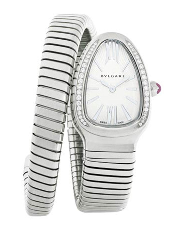 35mm Serpenti Tubogas 1-Twirl Watch with Diamonds