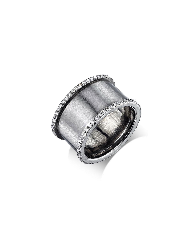 SHERYL LOWE DIAMOND CYLINDER RING, SIZE 6.5