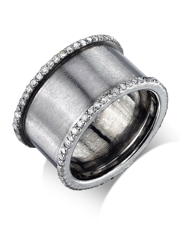 DIAMOND CYLINDER RING, SIZE 7.5