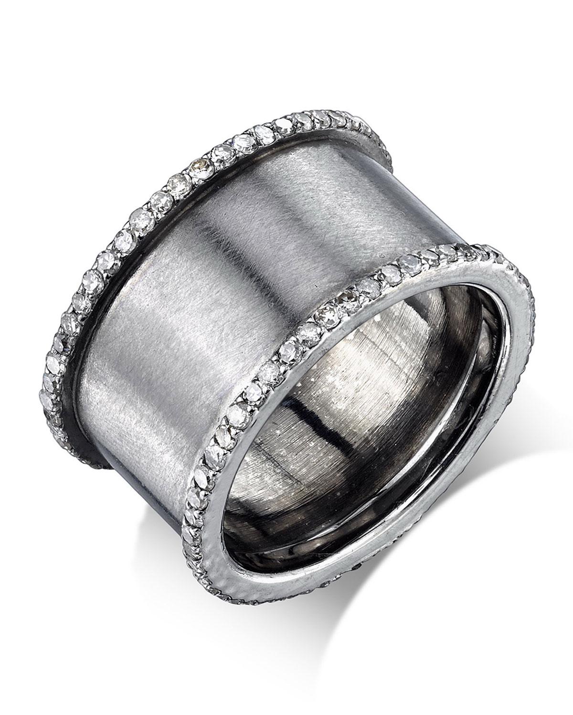 DIAMOND CYLINDER RING, SIZE 8