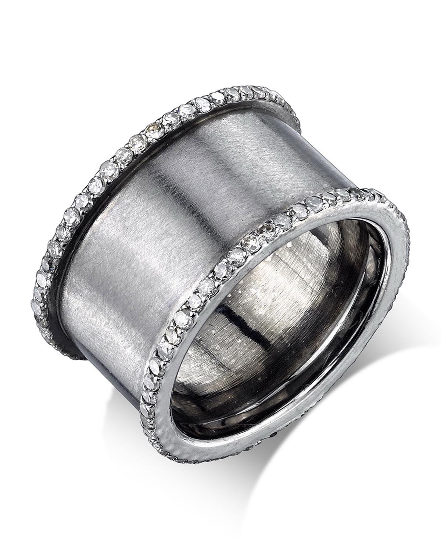 Sheryl Lowe Pavé Diamond Stacking Band Ring, Size 8.5