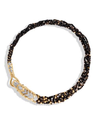 Legends Naga Beaded Collar Necklace with Diamonds