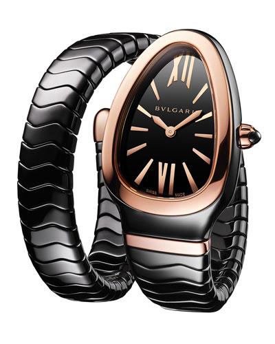 35mm Serpenti Spiga 18k Rose Gold Wrap Watch