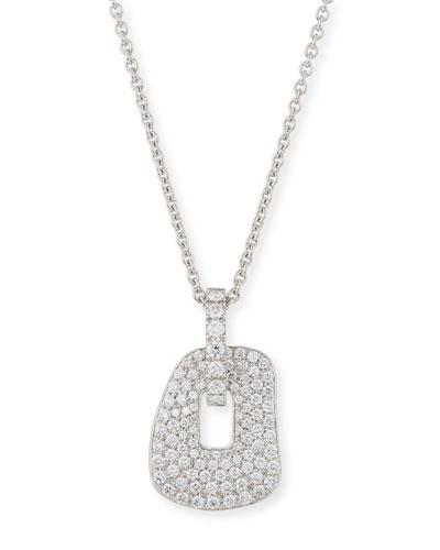 MATTIOLI Puzzle Diamond Pendant Necklace In 18K White Gold