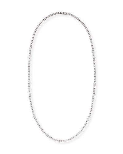 Diamond Riviera Necklace in 18K White Gold, 16