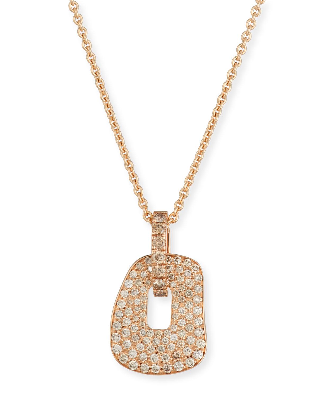 MATTIOLI Puzzle 18K Rose Gold Pendant Necklace With Champagne Diamonds