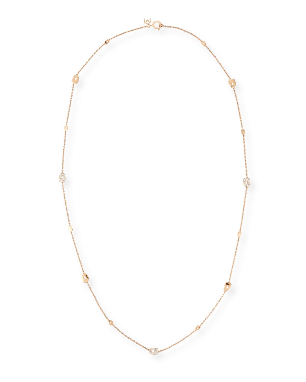 MATTIOLI Puzzle 18K Rose Gold Necklace With Diamonds