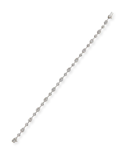 Fancy Brilliant-Cut Diamond Station Bracelet