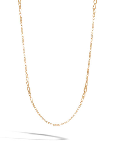 18k Bamboo Graduated Link Necklace, 36