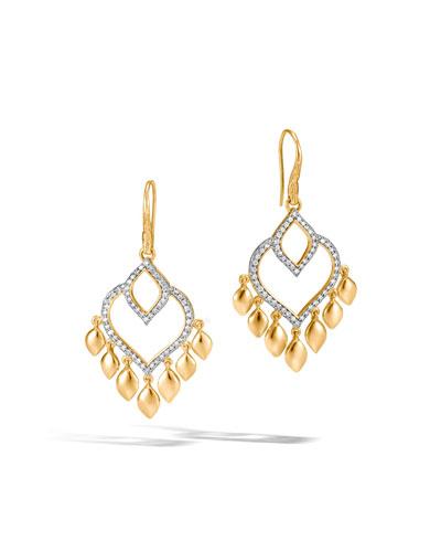 Legends Naga Chandelier Earrings with Diamonds