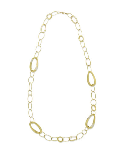 18K Glamazon Cherish Chain Necklace with Diamond Accent, 40