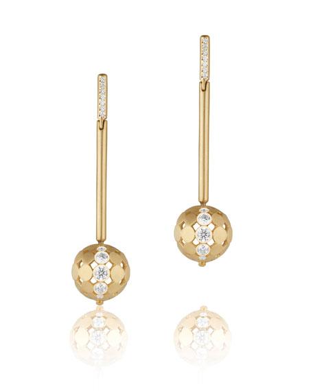 Carelle Disco Dots Diamond Stick Drop Earrings