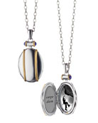 Sterling Silver and 18k Yellow Gold Locket Necklace, 32""