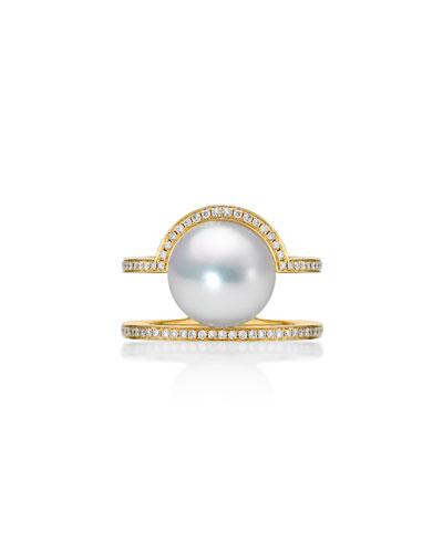Kobe Sunrise Pearl & Diamond Ring