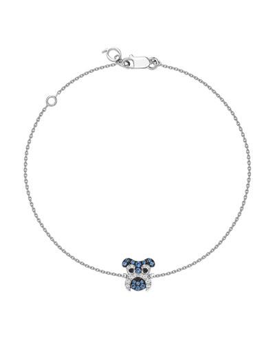 Wang Wang 18k Diamond & Sapphire Schnauzer Bracelet