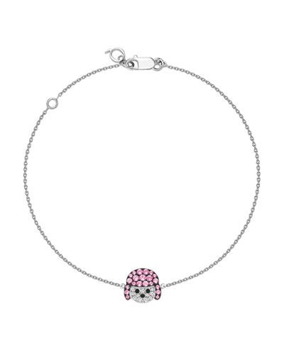 Wang Wang 18k Diamond & Sapphire Poodle Bracelet