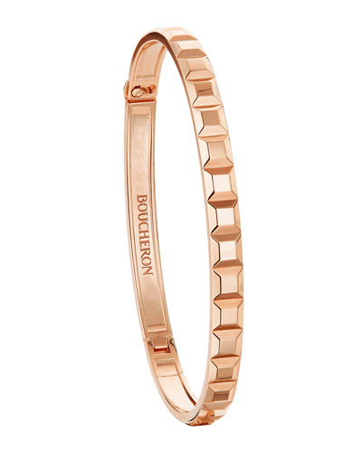 Quatre Clou De Paris 18Ct Rose Gold Bangle Bracelet
