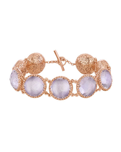 Olivia Button Bracelet in Ballet Foil